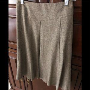 Talbots Aline  light brown tweed skirt